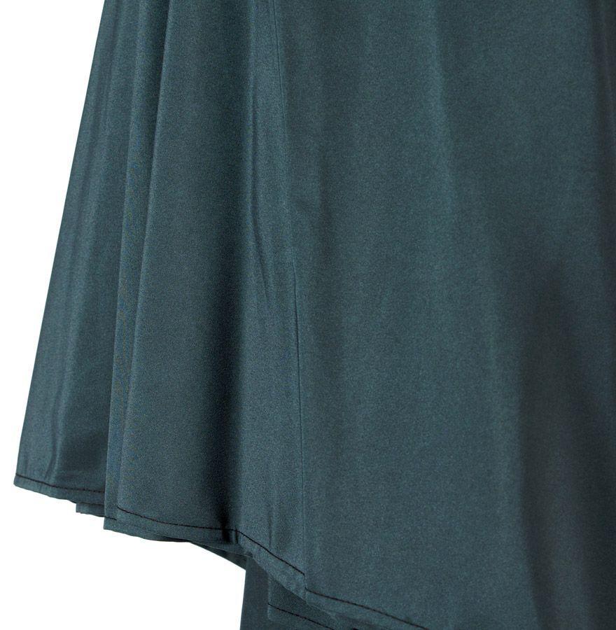 parasol varjo en bois et toile polyester vert bouteille. Black Bedroom Furniture Sets. Home Design Ideas