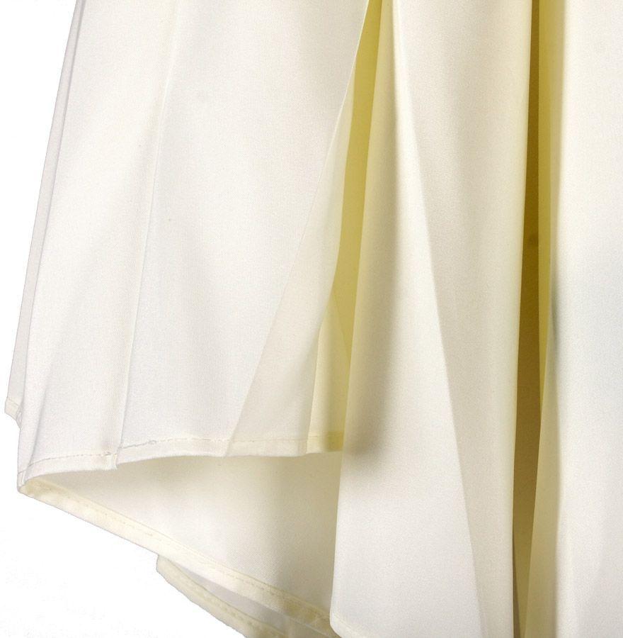 parasol varjo en bois et toile polyester sable. Black Bedroom Furniture Sets. Home Design Ideas