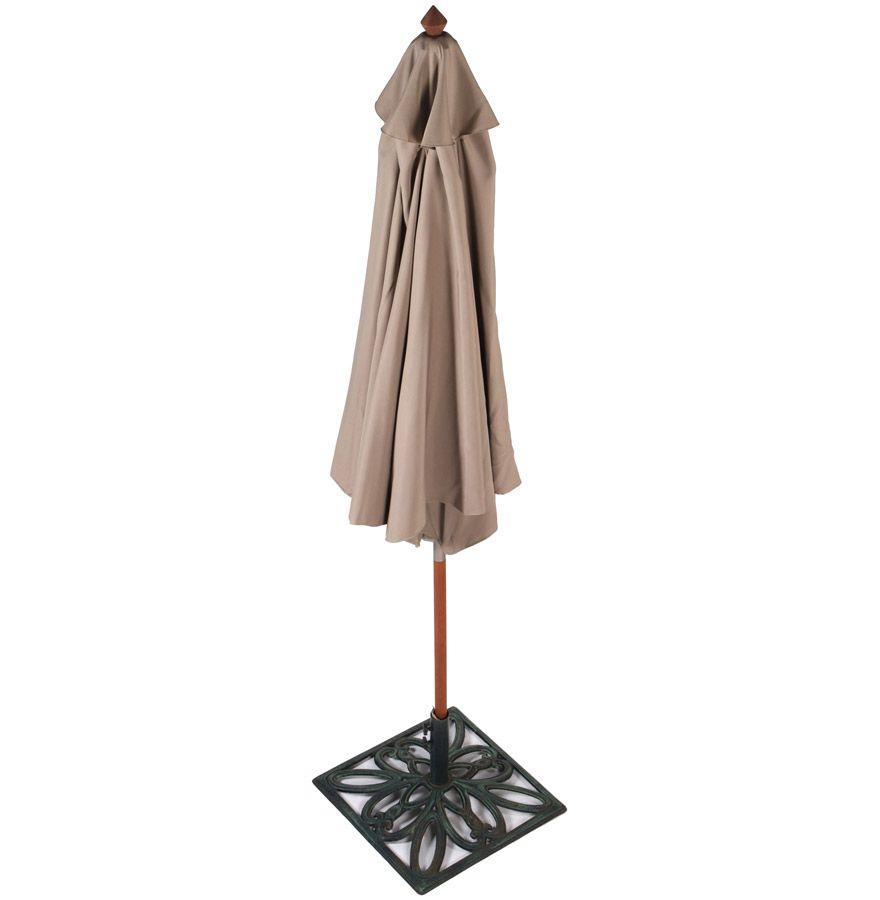 parasol varjo en bois et toile polyester taupe. Black Bedroom Furniture Sets. Home Design Ideas