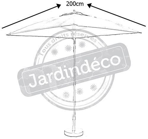Parasol inclinable fibre de verre-1