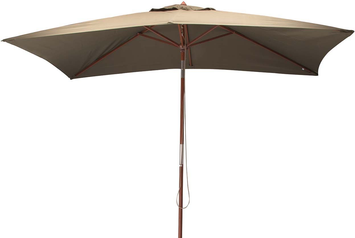 parasol avec m t en bois 300x200 cm ori taupe. Black Bedroom Furniture Sets. Home Design Ideas
