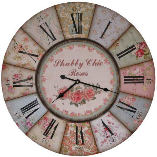Pendule de chevet Shabby chic 40cm by Antic line créations