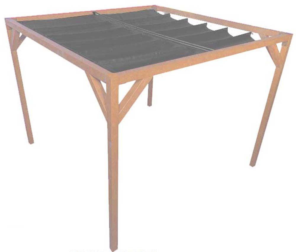 pergola autoportante bois douglas toile anthracite 3 x 2 m. Black Bedroom Furniture Sets. Home Design Ideas