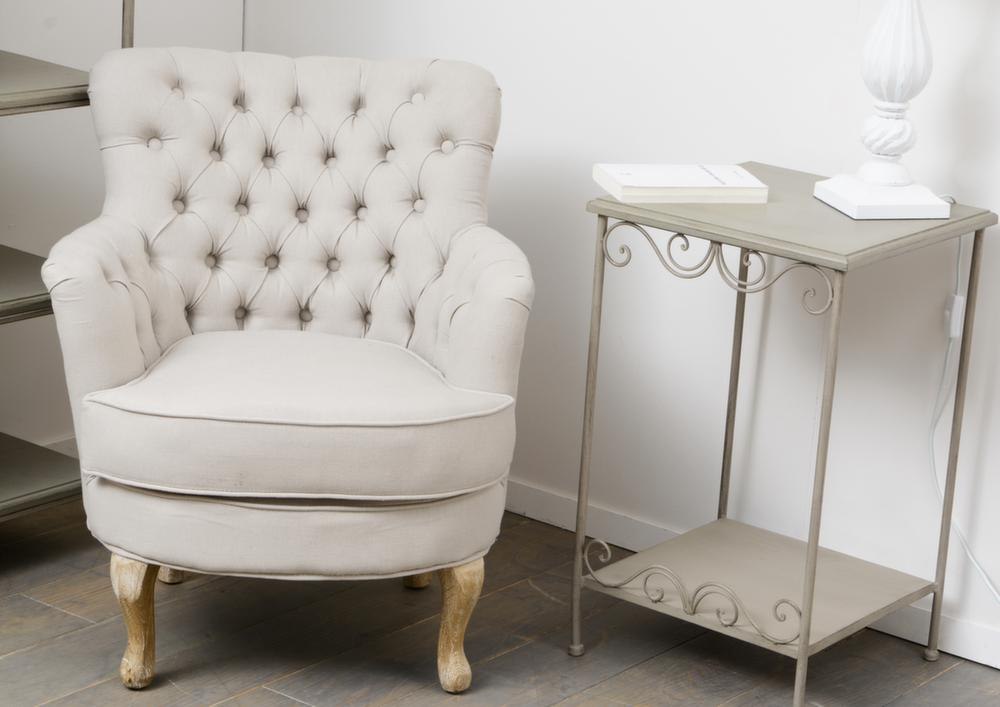 Petit meuble d 39 appoint m tal et bois megeve for Petits meubles d appoint