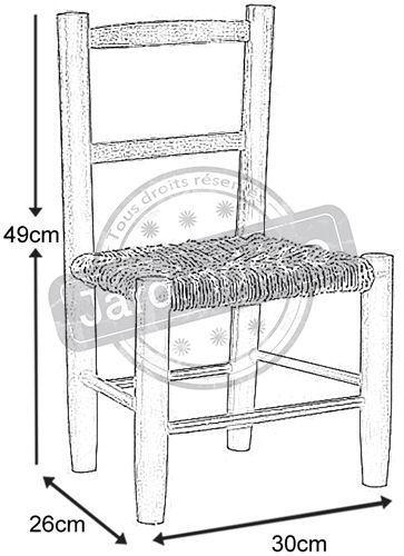 petite chaise bois pour enfant meuble enfant sur. Black Bedroom Furniture Sets. Home Design Ideas