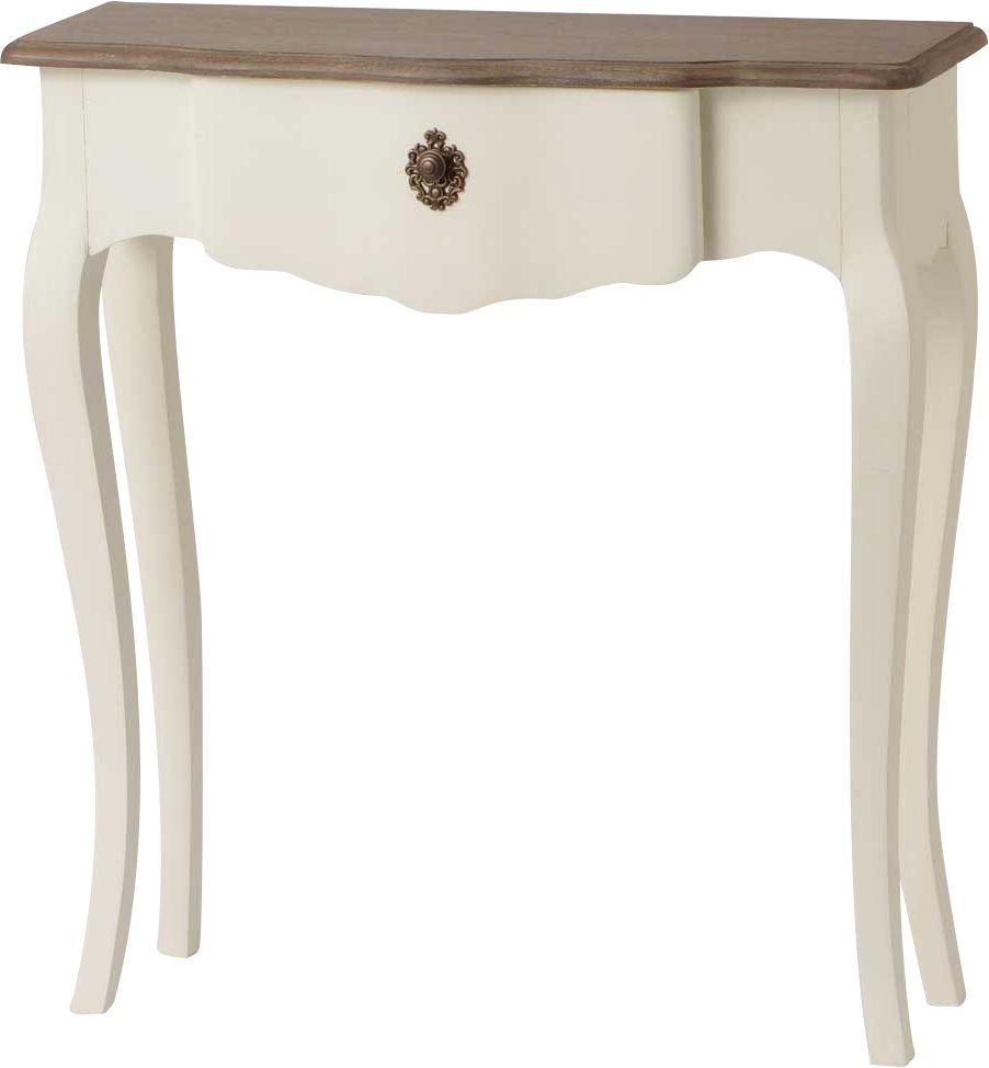 petite console blanche celestine en bois mdf. Black Bedroom Furniture Sets. Home Design Ideas