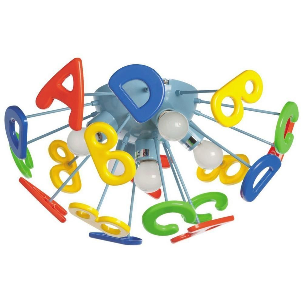 plafonnier pour enfants lettres de l 39 alphabet multicolore. Black Bedroom Furniture Sets. Home Design Ideas