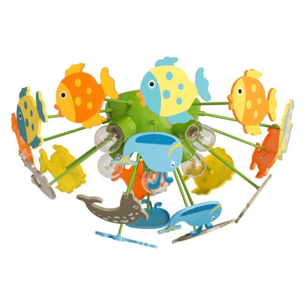 plafonnier pour enfants poisson multicolore. Black Bedroom Furniture Sets. Home Design Ideas