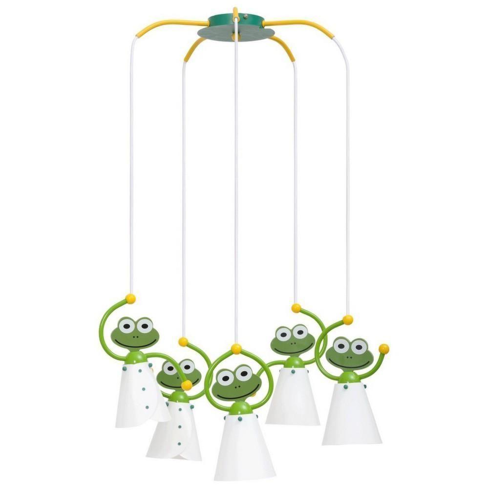 plafonnier pour enfants 5 suspensions grenouilles. Black Bedroom Furniture Sets. Home Design Ideas