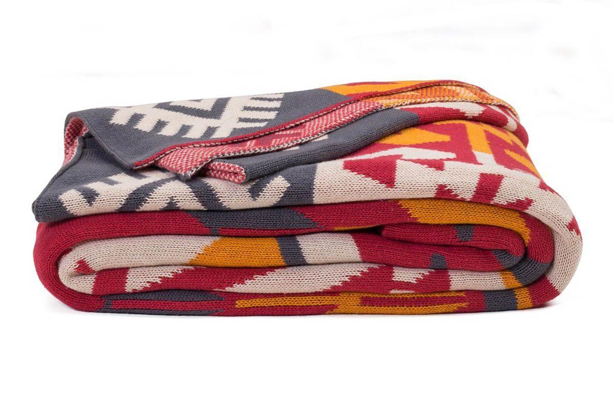 plaid coton olaias multicolore. Black Bedroom Furniture Sets. Home Design Ideas
