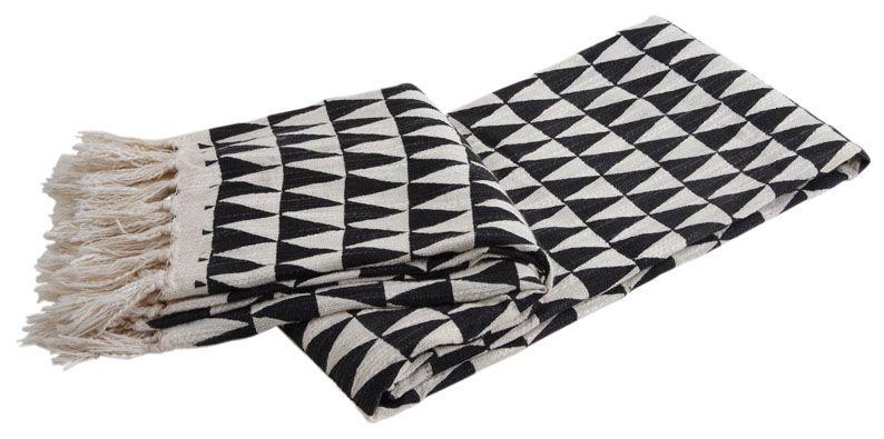 plaid en coton triangles. Black Bedroom Furniture Sets. Home Design Ideas