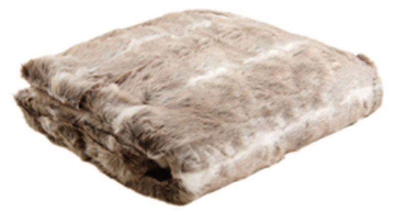 plaid imitation fourrure beige beige. Black Bedroom Furniture Sets. Home Design Ideas