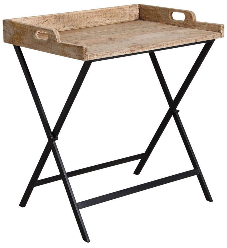 plateau en manguier sur pied pliable. Black Bedroom Furniture Sets. Home Design Ideas