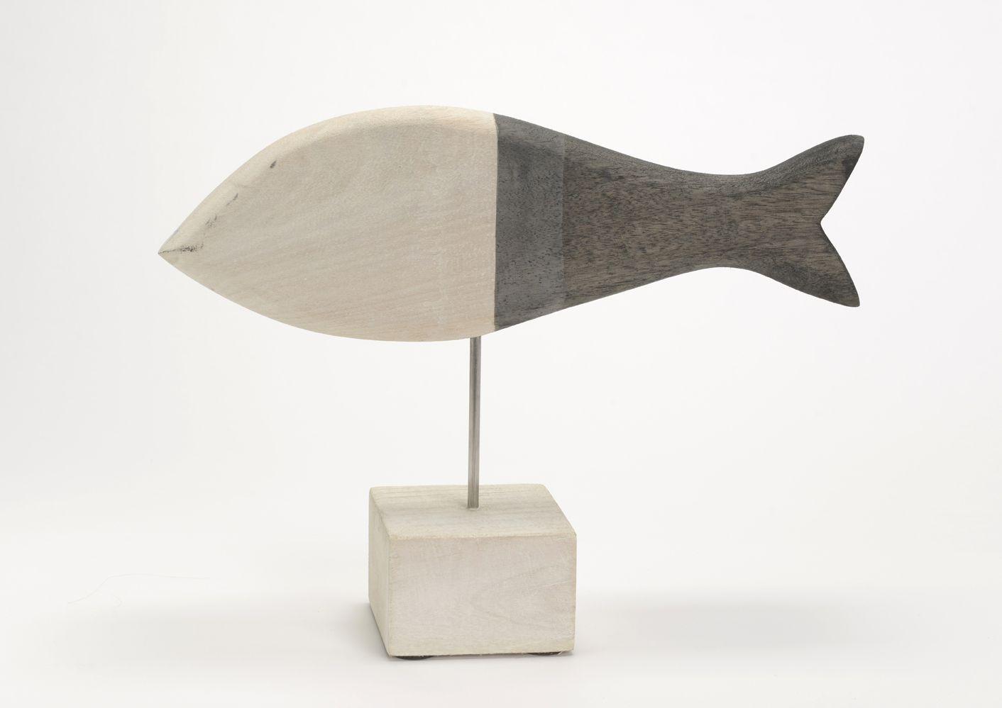 Poisson bois sur pied brehat for Deco poisson bois