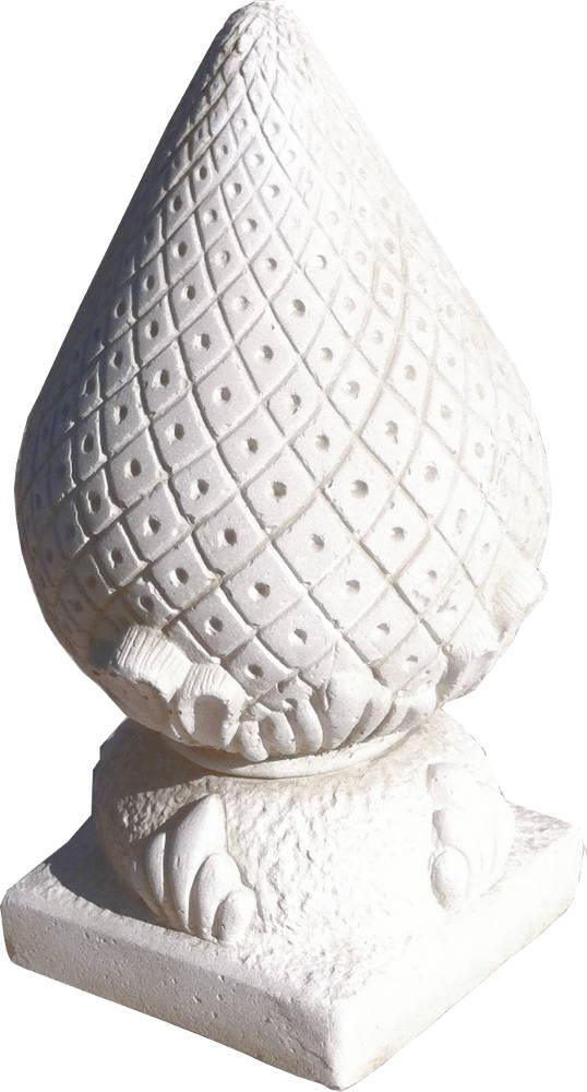 de pin royale en pierre reconstituée 19x19x43cm