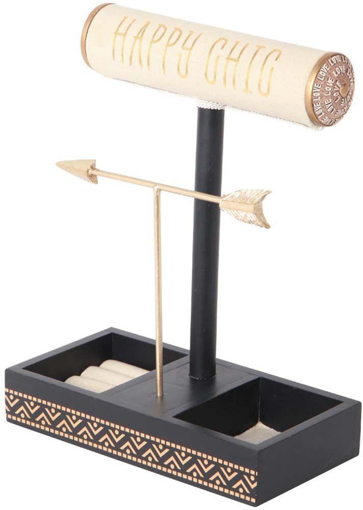 porte bijoux en bois et coton happy chic. Black Bedroom Furniture Sets. Home Design Ideas