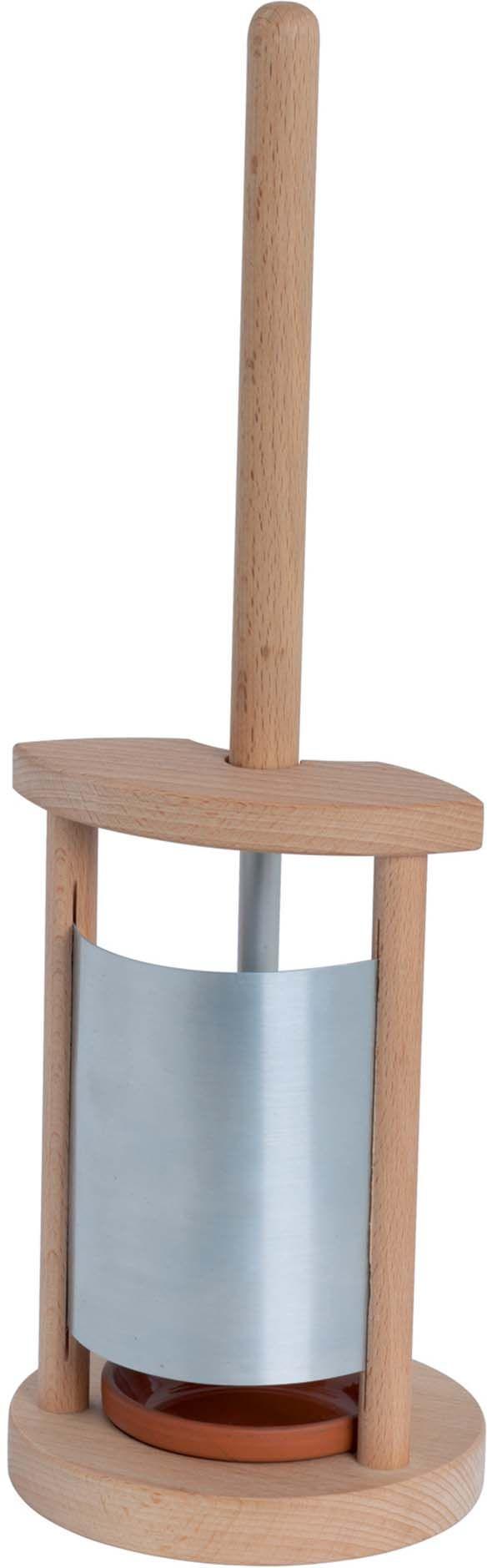 porte brosse wc en bois et zinc. Black Bedroom Furniture Sets. Home Design Ideas