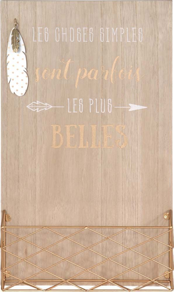 Porte courrier mural en bois for Porte courrier mural design