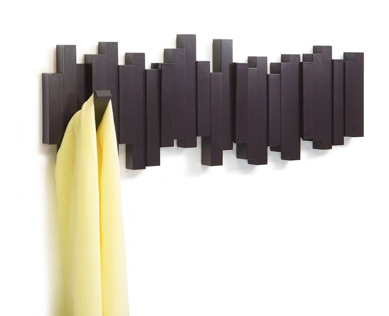 porte manteau design mural sticks expresso. Black Bedroom Furniture Sets. Home Design Ideas