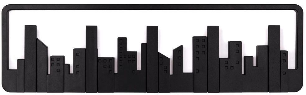 porte manteau mural design skyline blanc. Black Bedroom Furniture Sets. Home Design Ideas