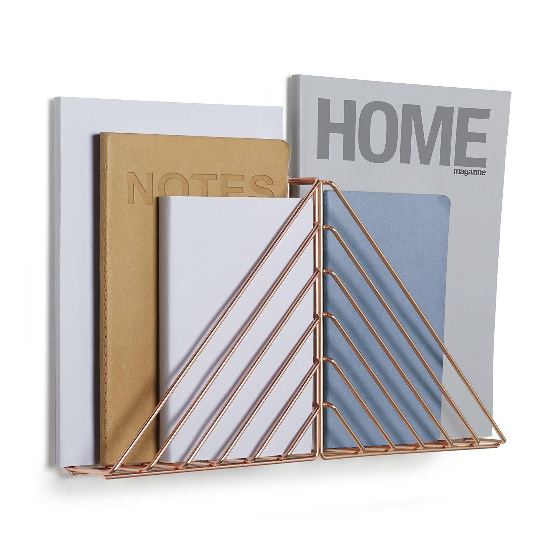 porte revues mural cuivre strum. Black Bedroom Furniture Sets. Home Design Ideas