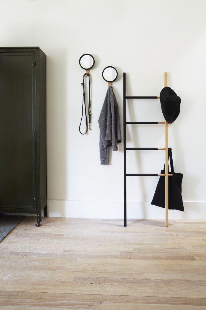 porte serviette chelle extensible noir noyer. Black Bedroom Furniture Sets. Home Design Ideas