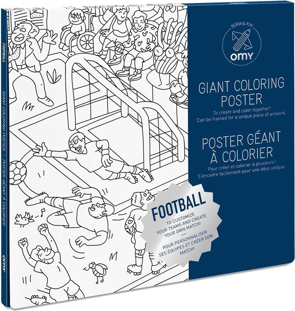 Poster à colorier football 100 x 70 cm by Omy