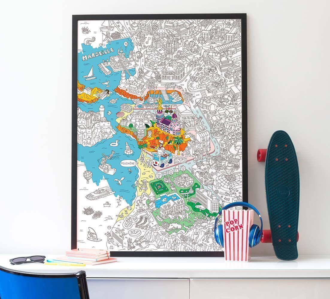 poster colorier 100 x 70 cm. Black Bedroom Furniture Sets. Home Design Ideas