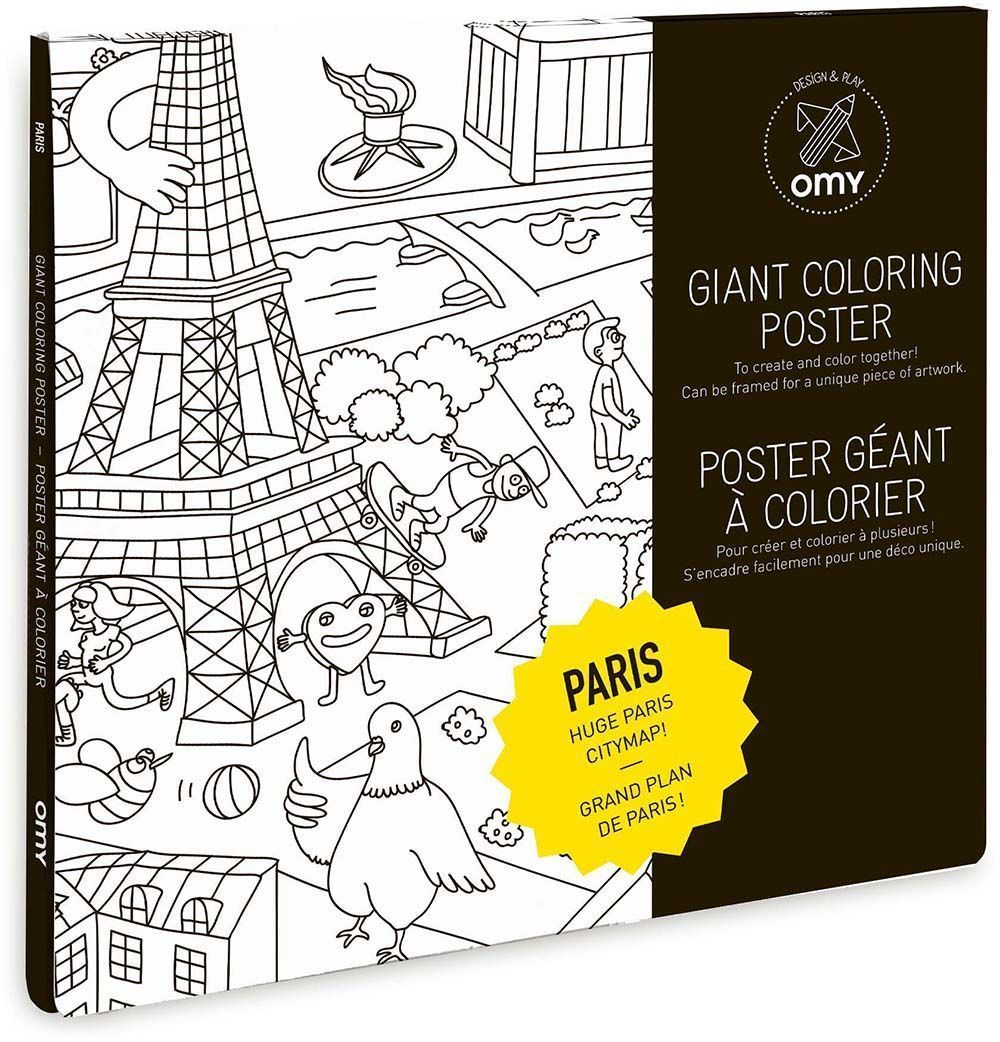 poster colorier 100 x 70 cm paris. Black Bedroom Furniture Sets. Home Design Ideas
