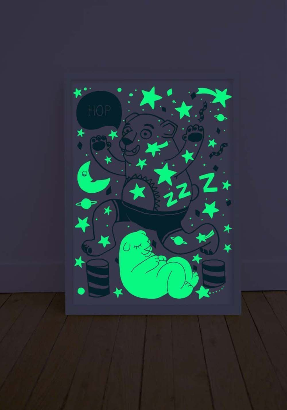 Poster phosphorescent grizzly 30 x 40 cm-5