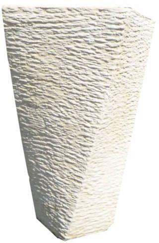 pot carré design en pierre reconstituée
