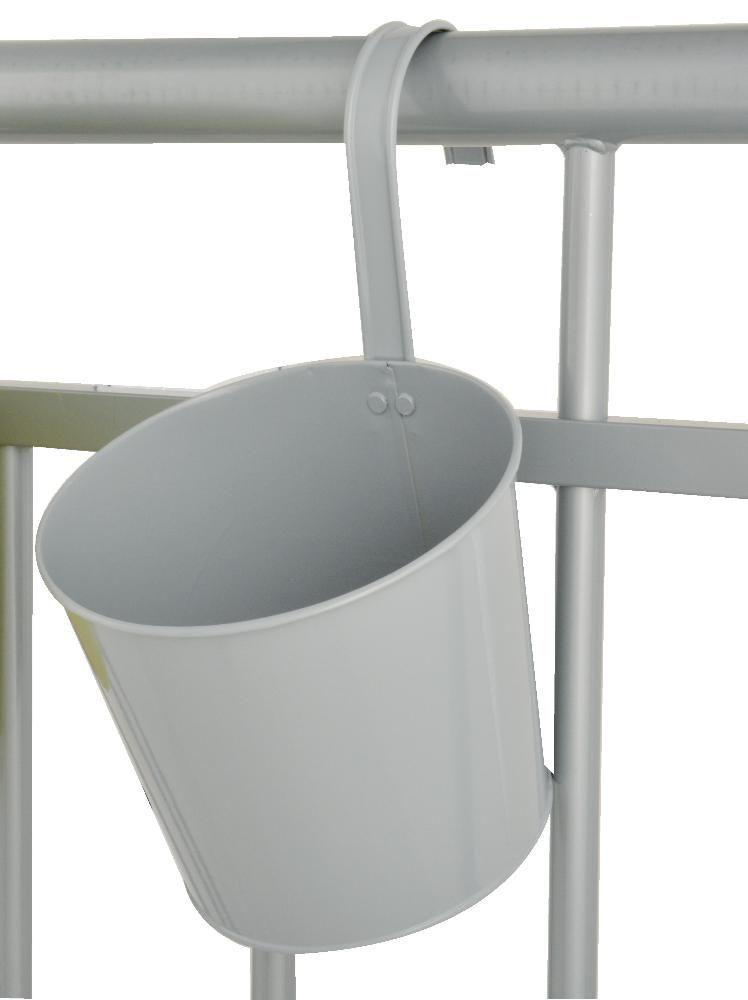 Pot de fleur balcon suspendre gris - Pot de fleur a accrocher ...