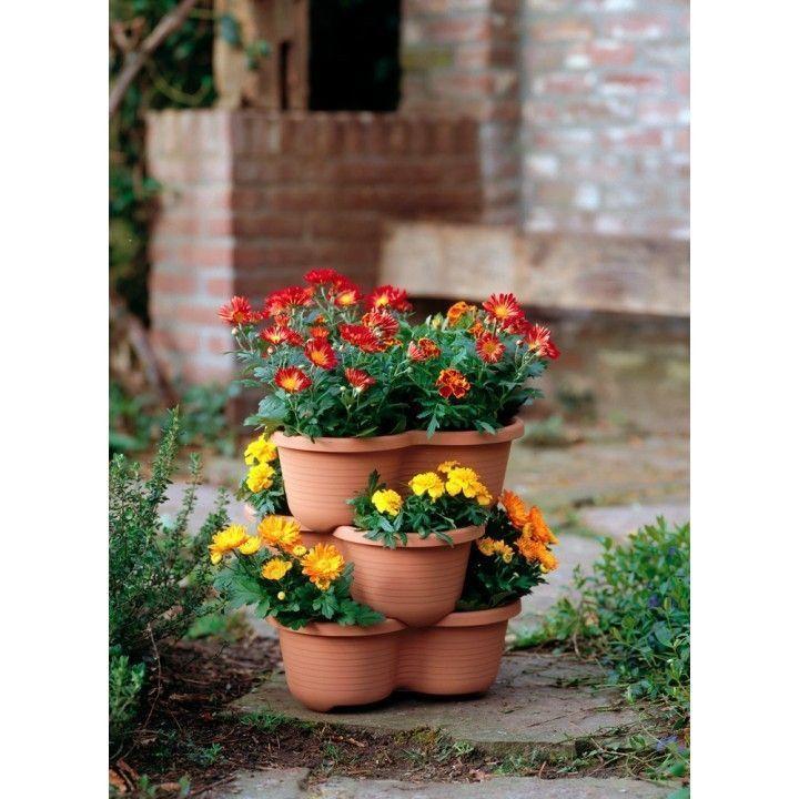 Pots de fleurs botanic line lot de 3 for Botanic fleurs artificielles