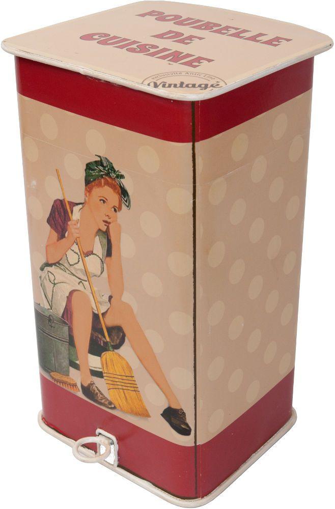 poubelle de cuisine vintage. Black Bedroom Furniture Sets. Home Design Ideas
