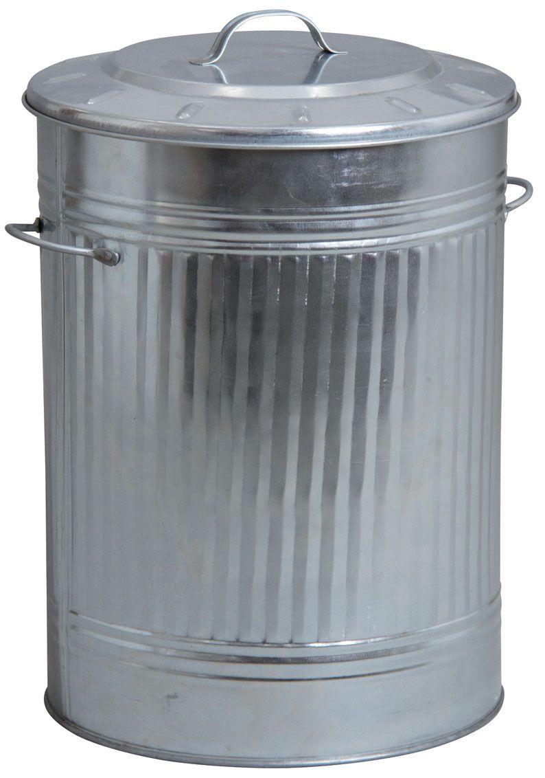 poubelle de cuisine en zinc lourd poubelles d co sur. Black Bedroom Furniture Sets. Home Design Ideas