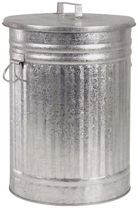 poubelle en zinc lourd
