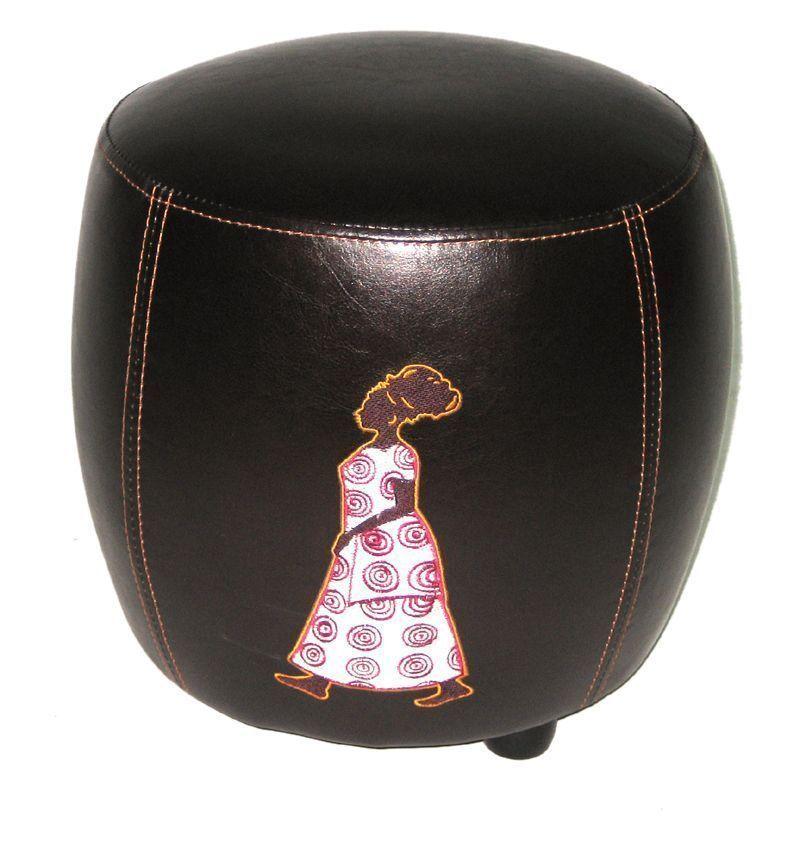pouf tonneau. Black Bedroom Furniture Sets. Home Design Ideas