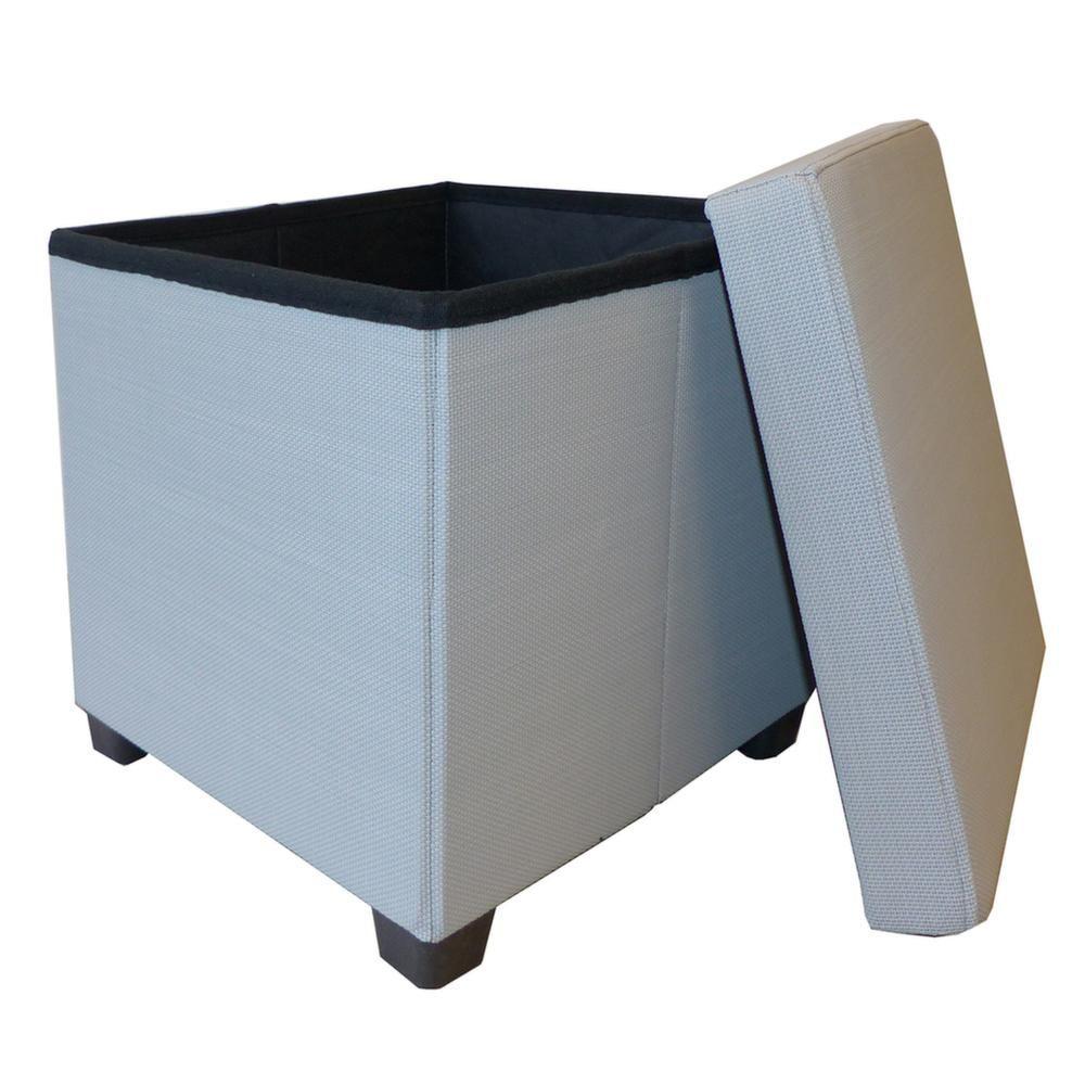 pouf coffre pliable 2 en 1. Black Bedroom Furniture Sets. Home Design Ideas