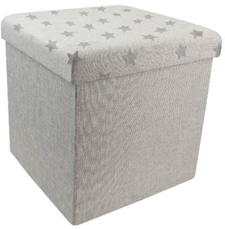 Pouf pliant en tissu Citations by The concept factory