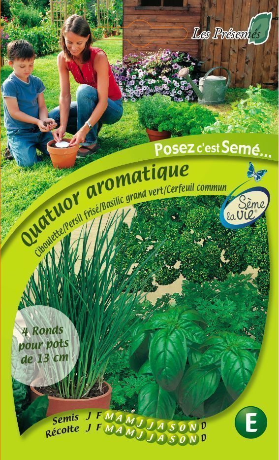 Quatuor aromatique (Lot de 4 ronds) sur Jardindeco