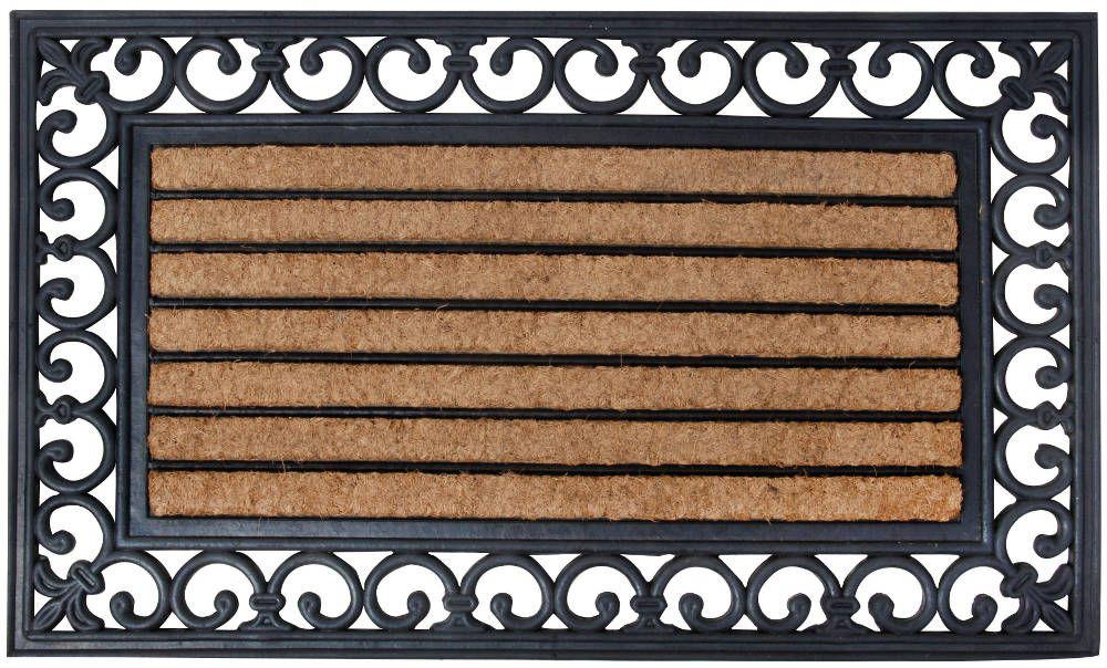 paillasson en caoutchouc et coco 75 5x45 5x1cm. Black Bedroom Furniture Sets. Home Design Ideas
