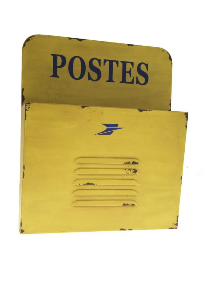 Range courrier Postes jaune by Antic line créations