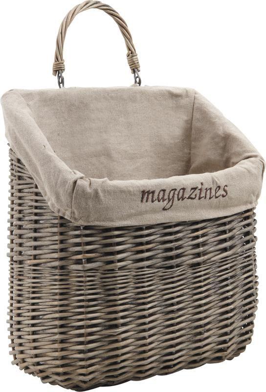 range magazines mural en osier gris. Black Bedroom Furniture Sets. Home Design Ideas