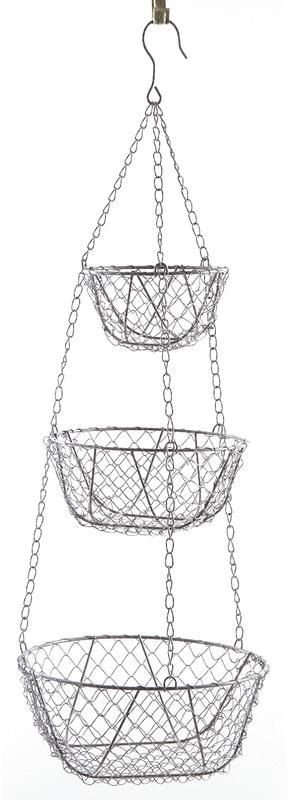 rangement 3 paniers suspendre. Black Bedroom Furniture Sets. Home Design Ideas