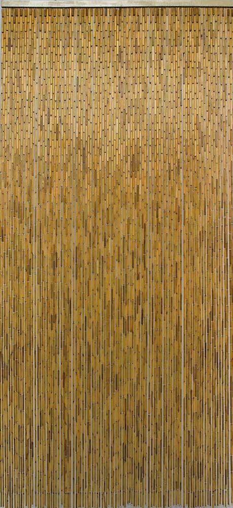 rideau en batonnets de bambou vernis. Black Bedroom Furniture Sets. Home Design Ideas