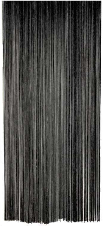rideau fil de porte en polyester noir. Black Bedroom Furniture Sets. Home Design Ideas