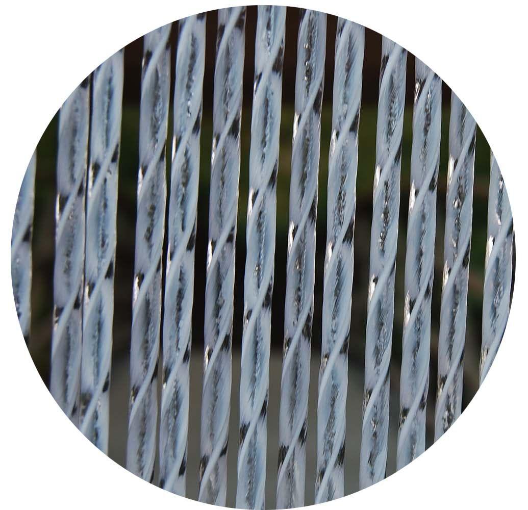 Rideau de porte en pvc blanc ascona 90x210 cm for Porte interieure en pvc blanc