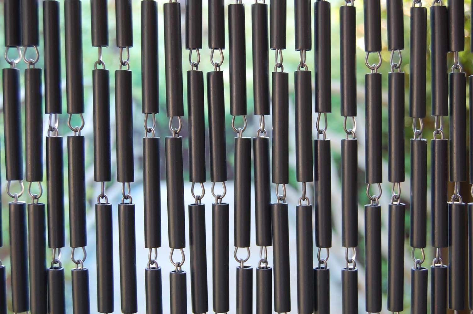 rideau de porte en poly thyl ne anthracite et acier campo. Black Bedroom Furniture Sets. Home Design Ideas