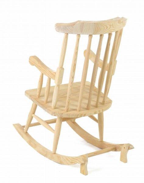 rocking chair en pin massif. Black Bedroom Furniture Sets. Home Design Ideas