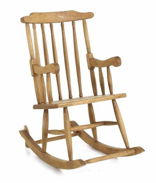 Rocking-chair en pin massif sur Jardindeco